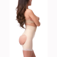 Isavela BE03 Open Buttocks Enhancer Girdle-Mid Thigh w/ Front Zipper